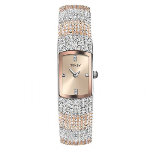 Seksy 2733 | Ladies Watch | Two Tone Rose | Swarovski Crystal